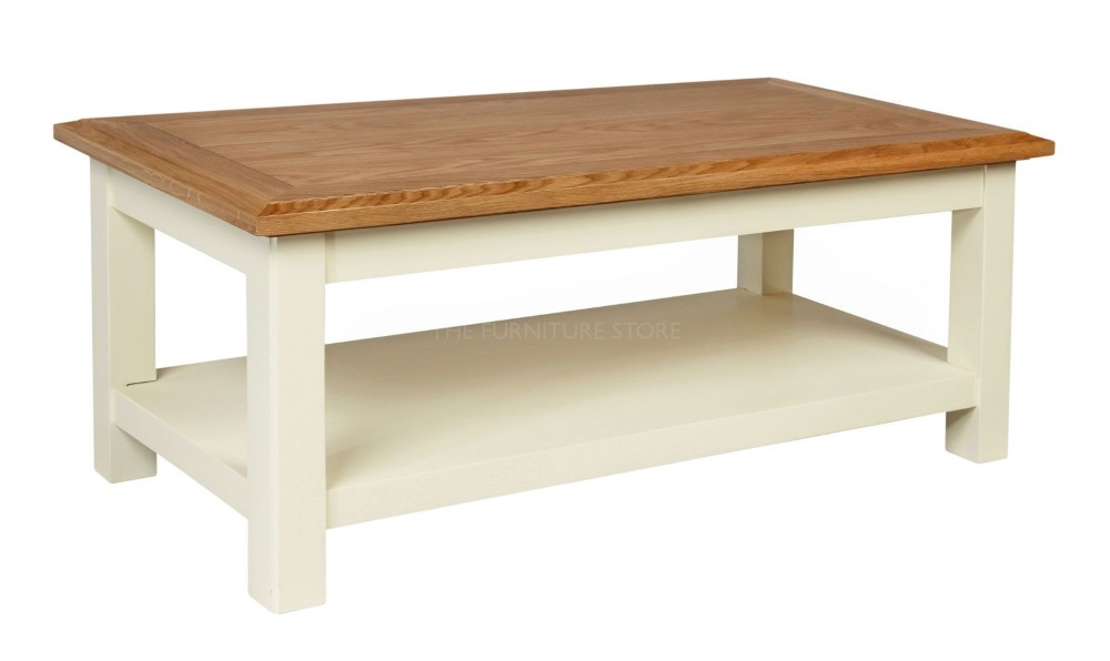 Cotswold Painted Coffee Table With Shelf