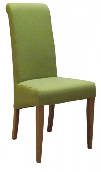 New Oak Lime Fabric Dining Chair