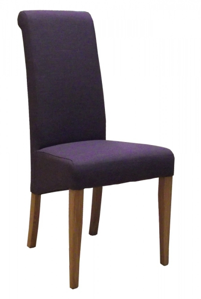 New Oak Mauve Fabric Dining Chair