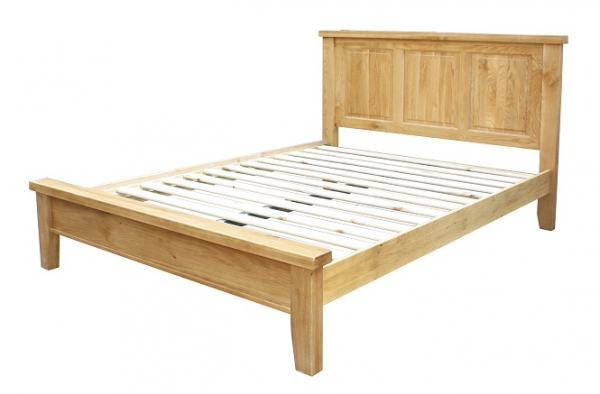 Chunky Oak King Size Bed