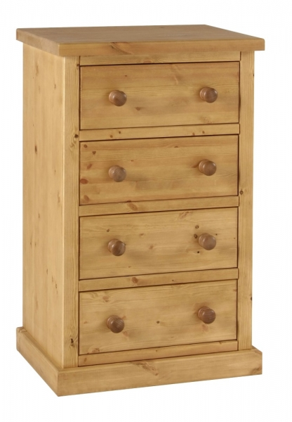 Chunky Pine 4 drawer wellington chest of drawers