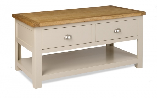 Northport Stone Coffee Table with Drawers