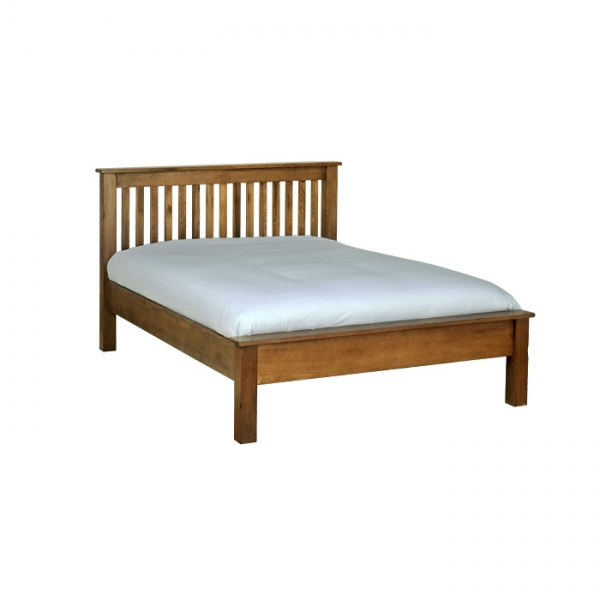 The Rustic Oak 4 6  Low End Bed