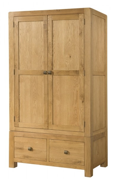 Avon Oak Double Wardrobe with Drawers