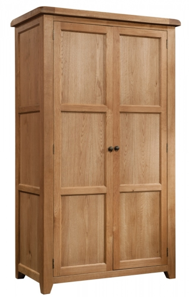 Suffolk Oak ladies double full hanging wardrobe