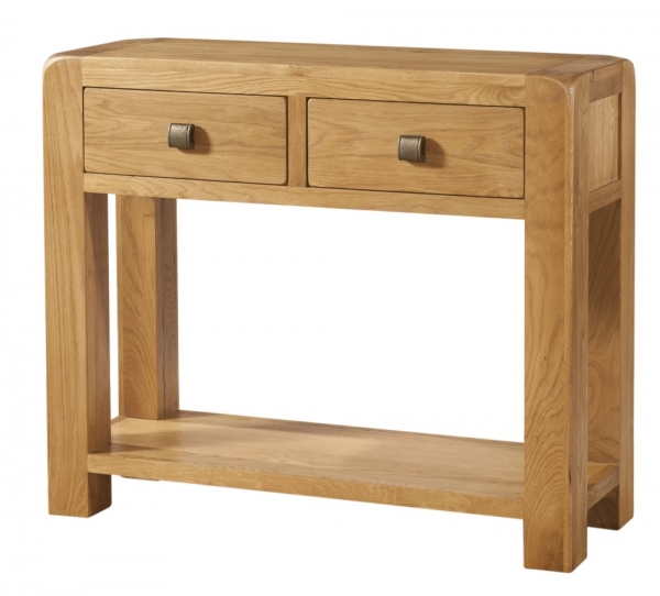 Avon Oak 2 Drawer Console Table