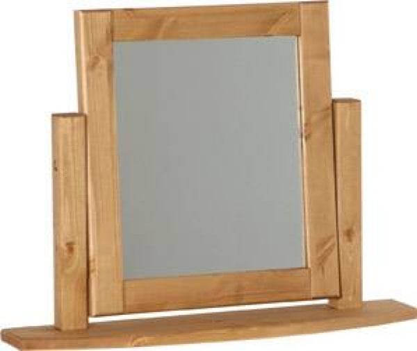 Chunky Pine single dressing table mirror