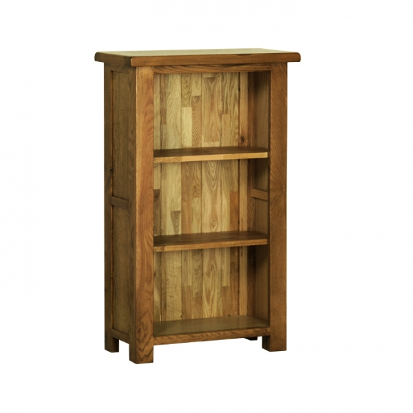 Rustic Oak 3  Narrow Bookcase