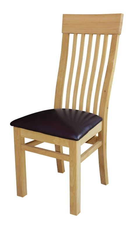 Oak Curved Back Dining Chair
