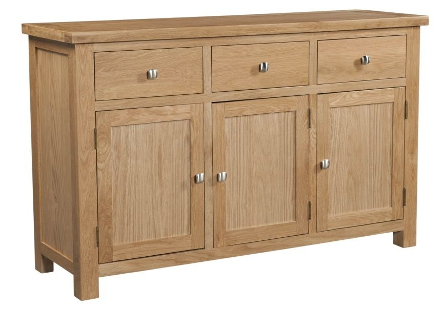 Dorset Oak 3 Drawer 3 Door Sideboard