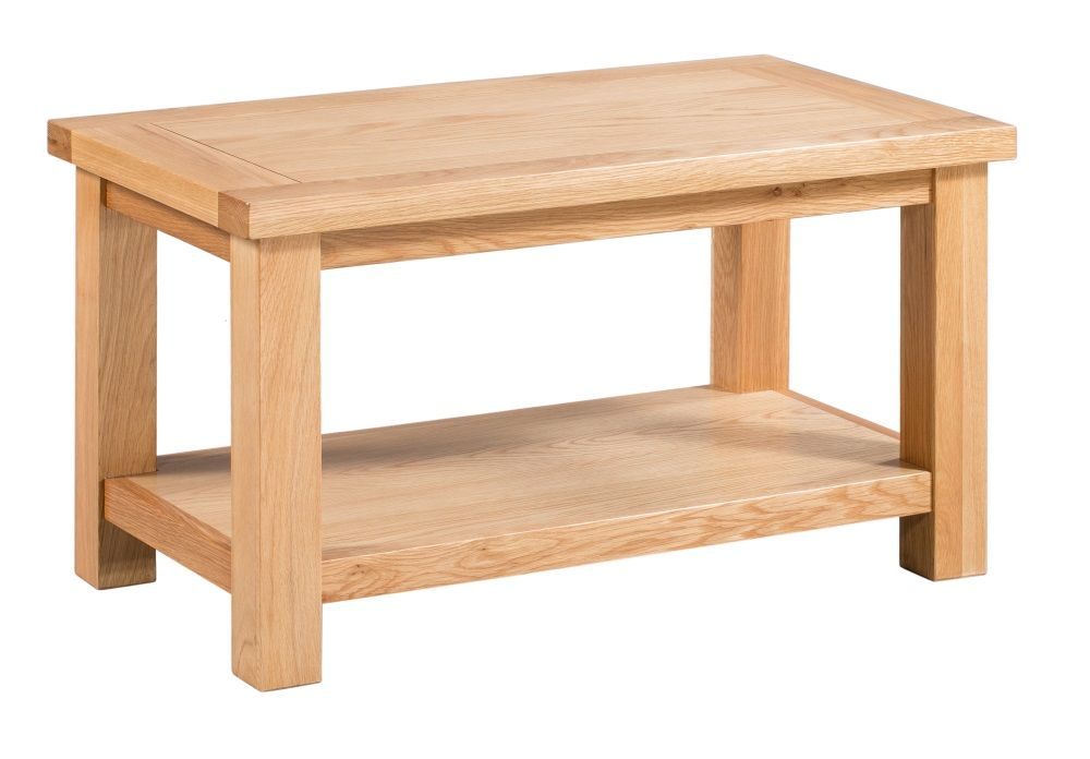 Dorset Oak Small Coffee Table with Shelf