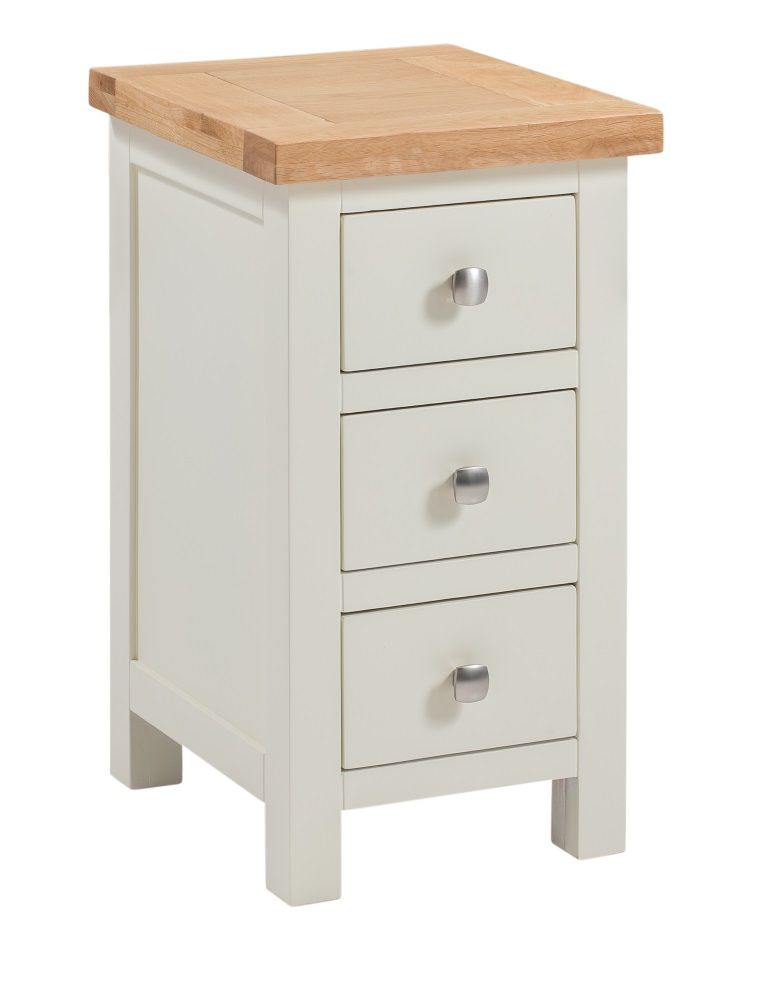 Dorset Painted Narrow 3 Drawer Bedside