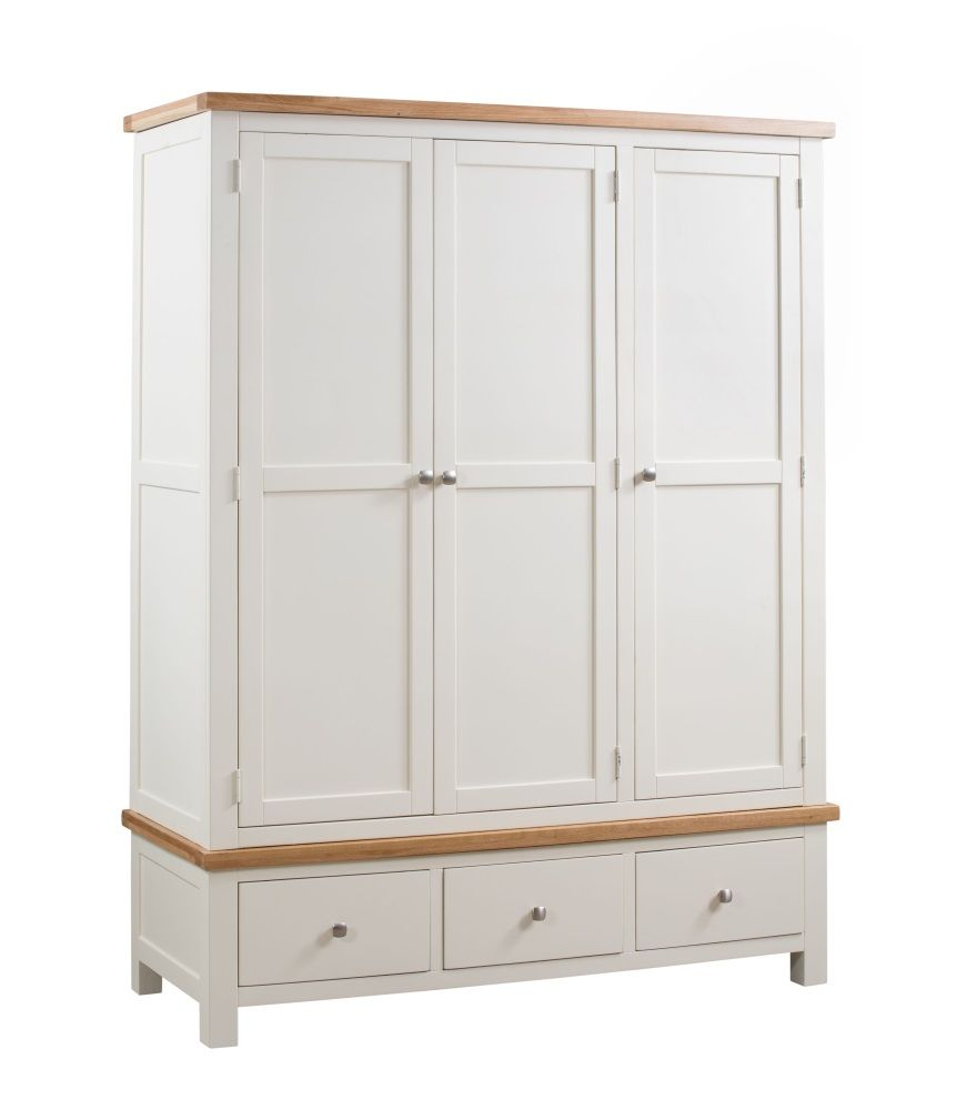 Dorset Painted Triple Wardrobe with Drawers