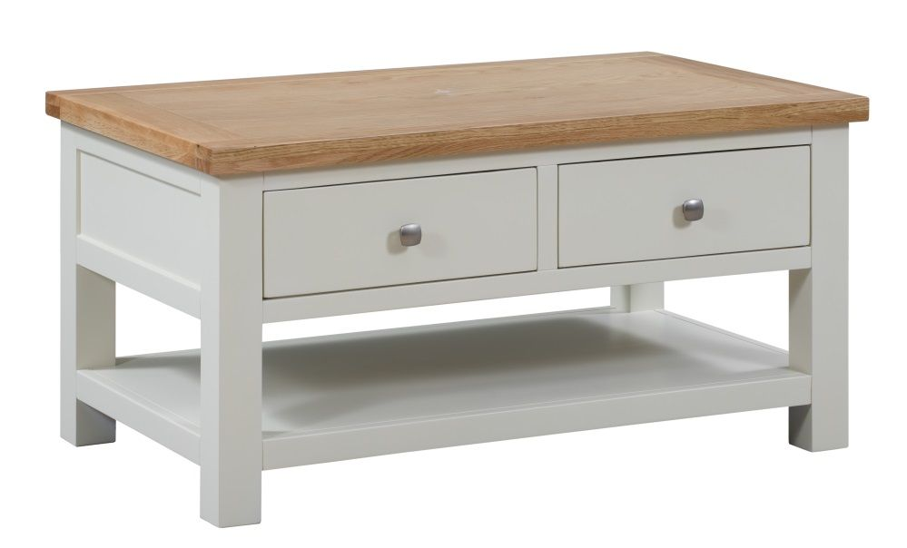 Dorset Painted Coffee Table with Drawers