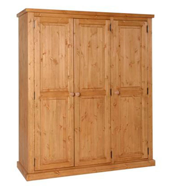 Chunky Pine ladies triple full hanging wardrobe