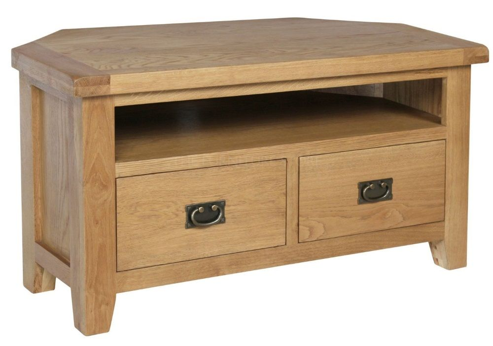 Hereford Oak Corner TV Cabinet