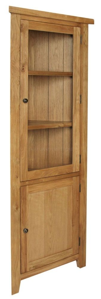 Hereford Oak Corner Display Cabinet