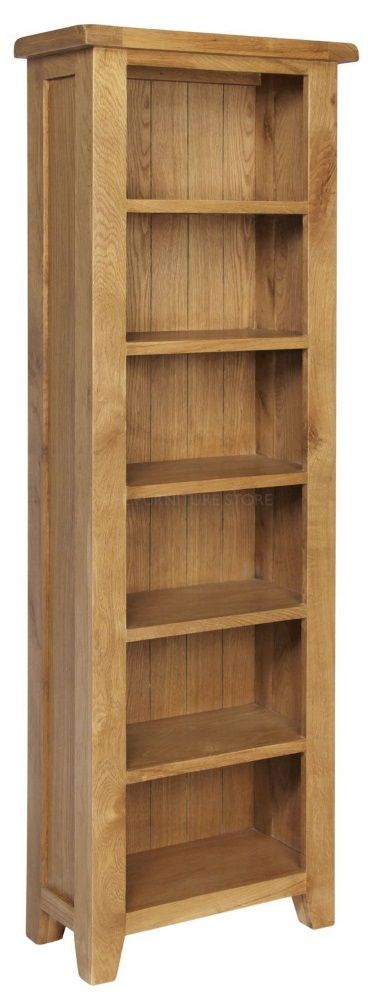 Hereford Oak Tall Slim Bookcase