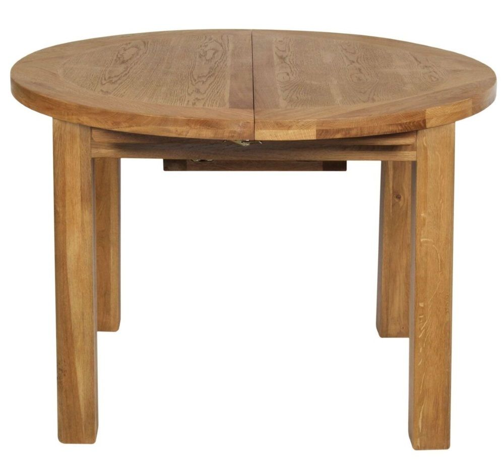 Hereford Oak Round Extending Dining Table