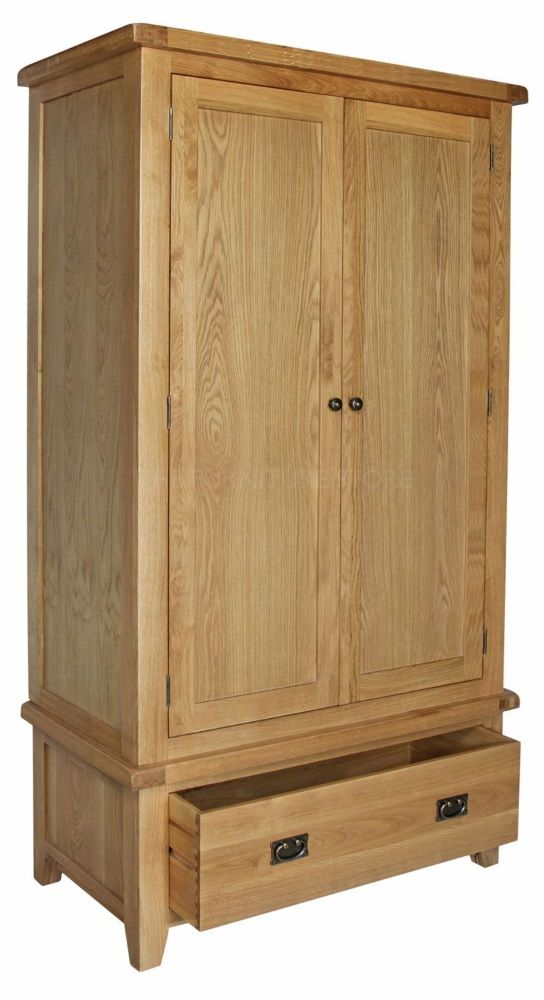 Hereford Oak Double Wardrobe with Drawer