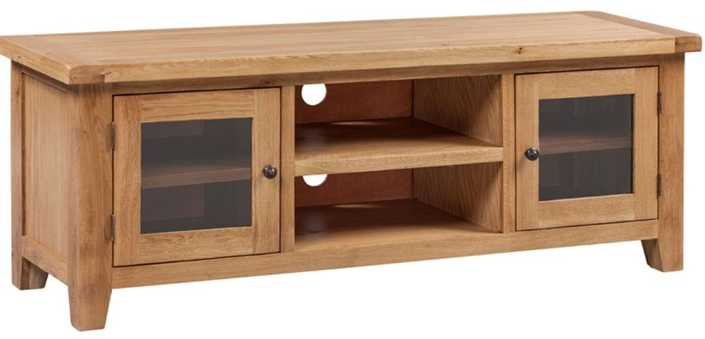Hereford Oak Widescreen TV Cabinet
