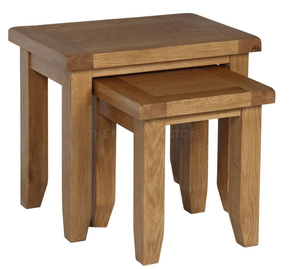 Hereford Oak Nest of Tables