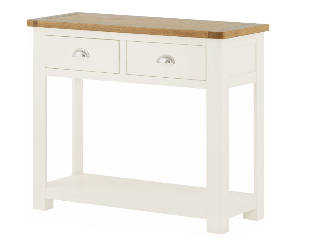 Northport White Two Drawer Console Table