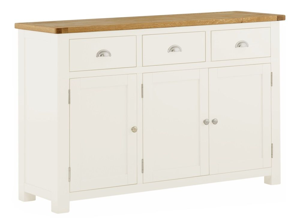 Northport White 3 Door 3 Drawer Sideboard