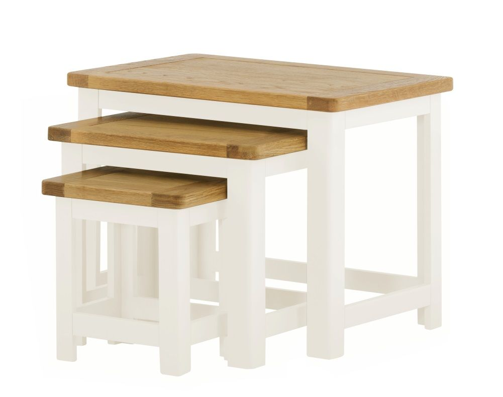 Northport White Nest of Tables