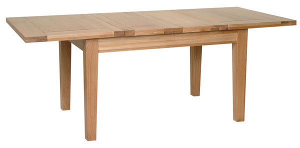 New Oak 4 4  x 3   extending table - 2 leaves