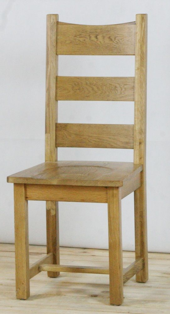 Genoa Oak Chair - Timber Seat