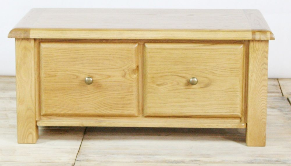 Genoa Oak Coffee Table with 2 Drawers