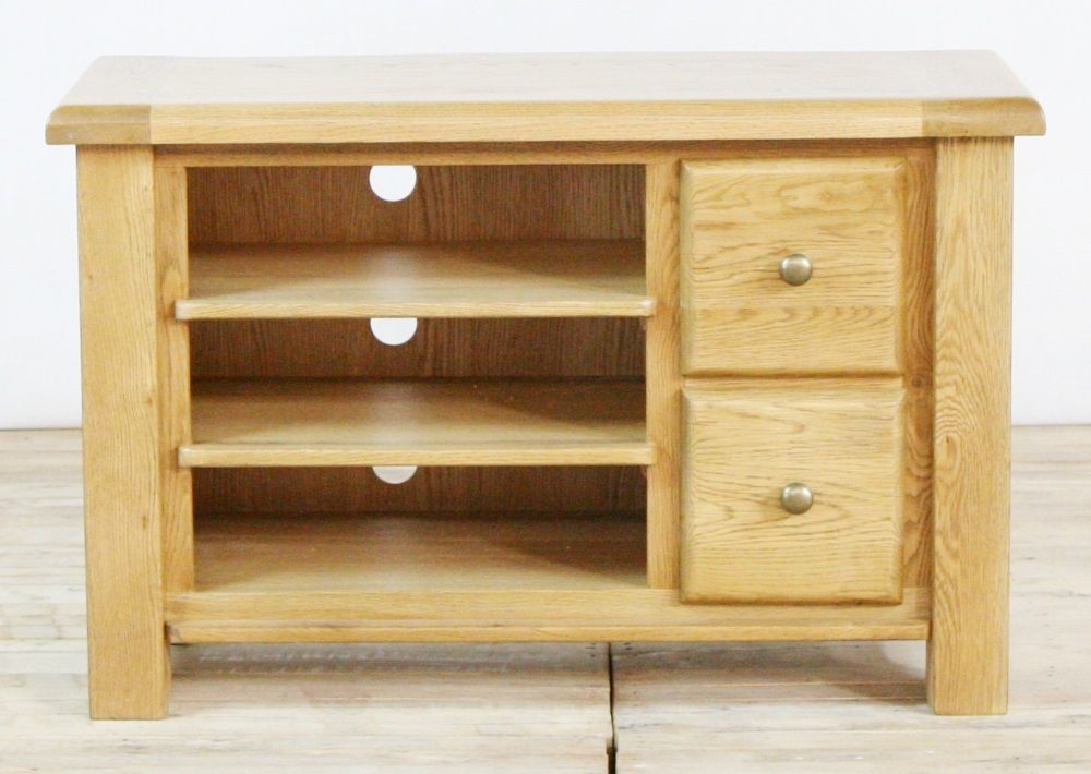 Genoa Oak Small TV Unit with 2 Drawers