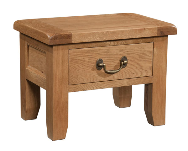Suffolk Oak side table with drawer