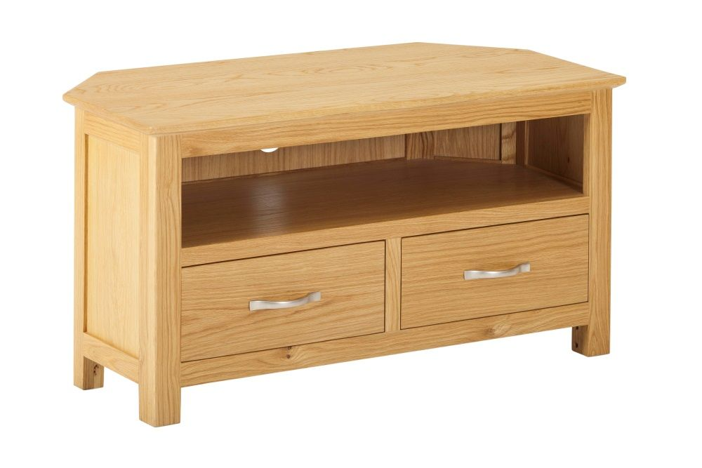 York Oak Corner TV Cabinet