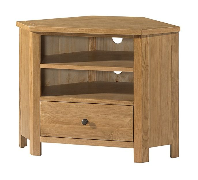 Burford Oak Corner TV Cabinet