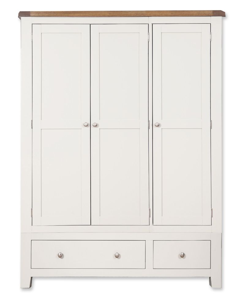 Cornwall Painted Triple Wardrobe with Drawers
