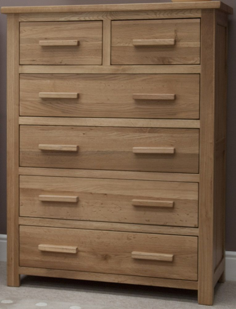 Opus Oak 2 over 4 Chest of Drawers