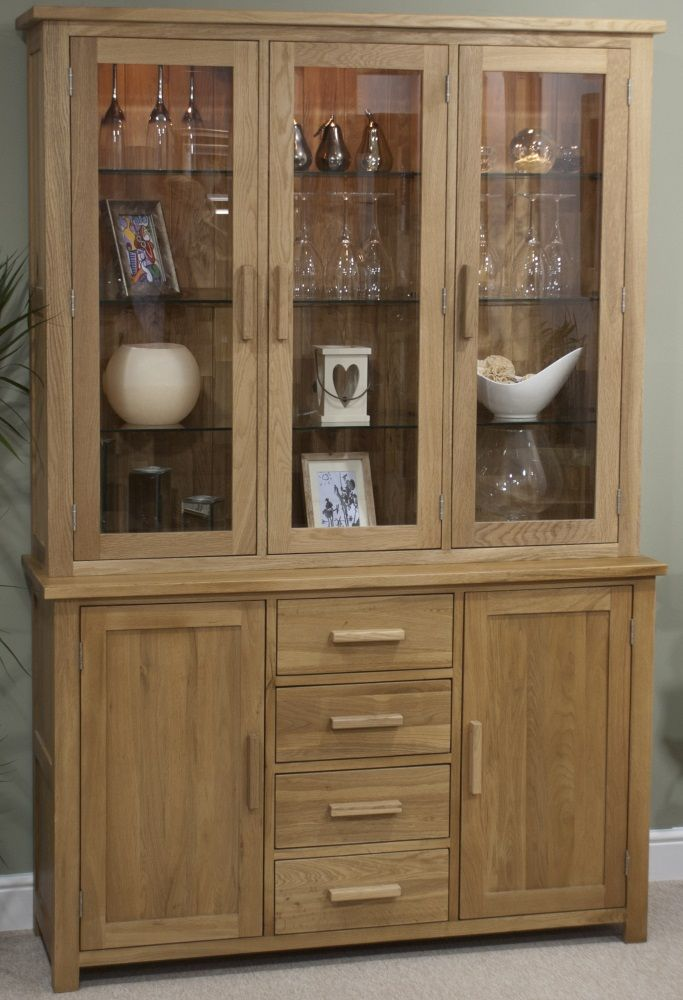 Opus Oak Large Glazed Dresser