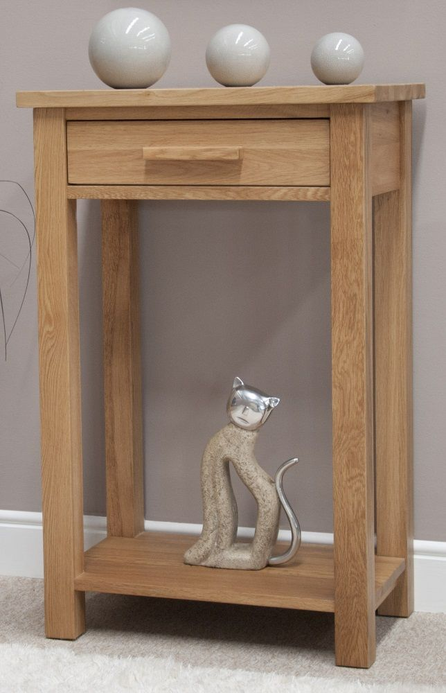 Opus Oak 1 Drawer Console Table