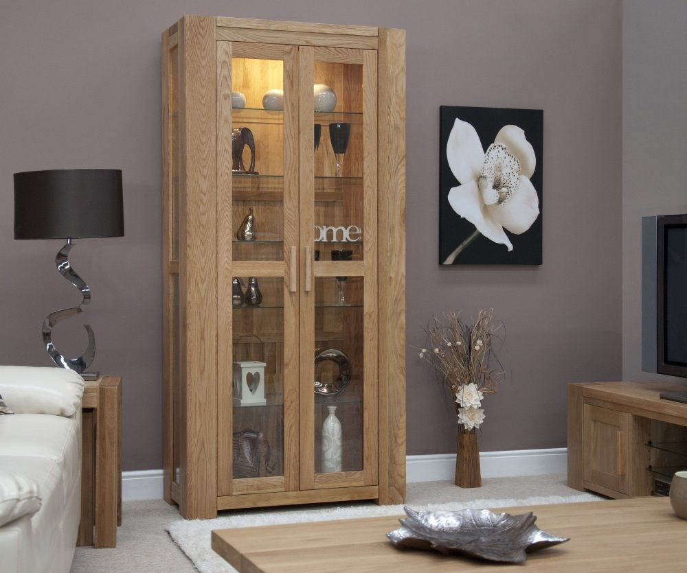 Mode Oak Glazed Display Cabinet