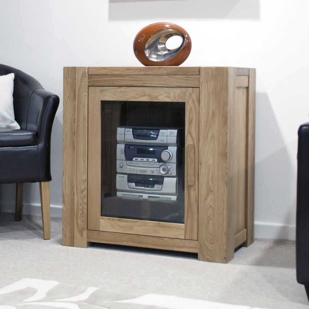 Mode Oak Hi-Fi Cabinet