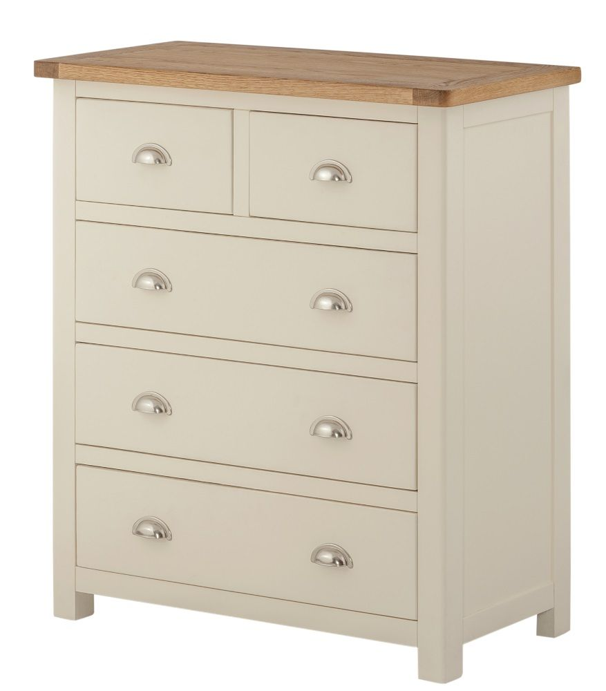 Northport Cream 2 over 3 Chest of Drawers