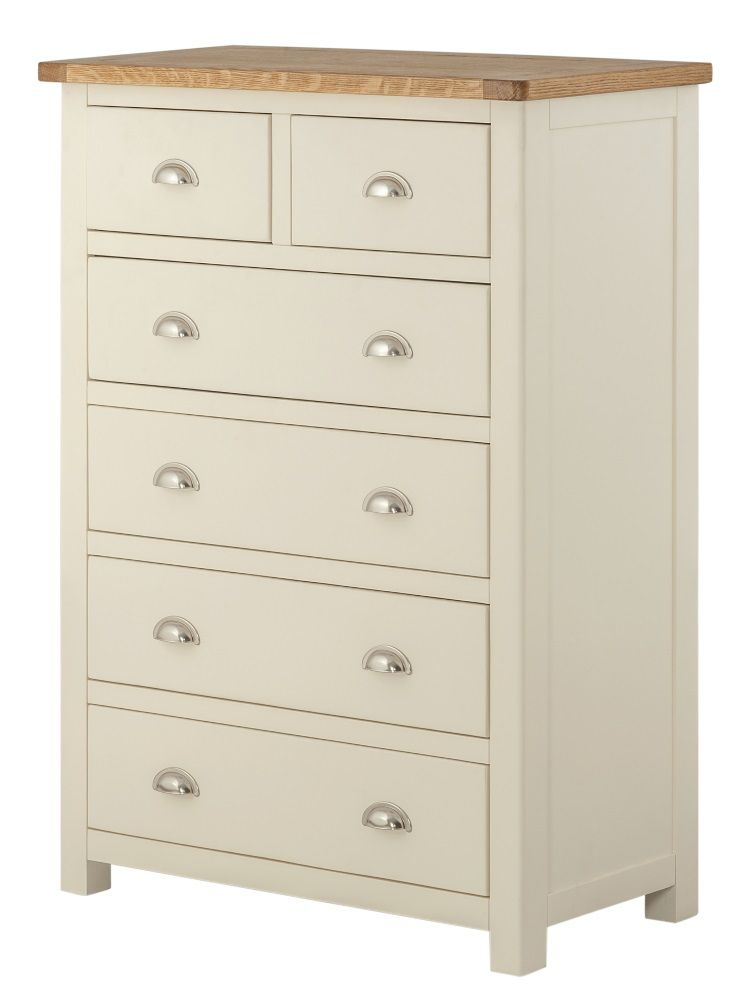 Northport Cream 2 over 4 Chest of Drawers
