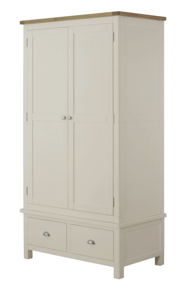 Northport Cream Double Wardrobe with Drawers