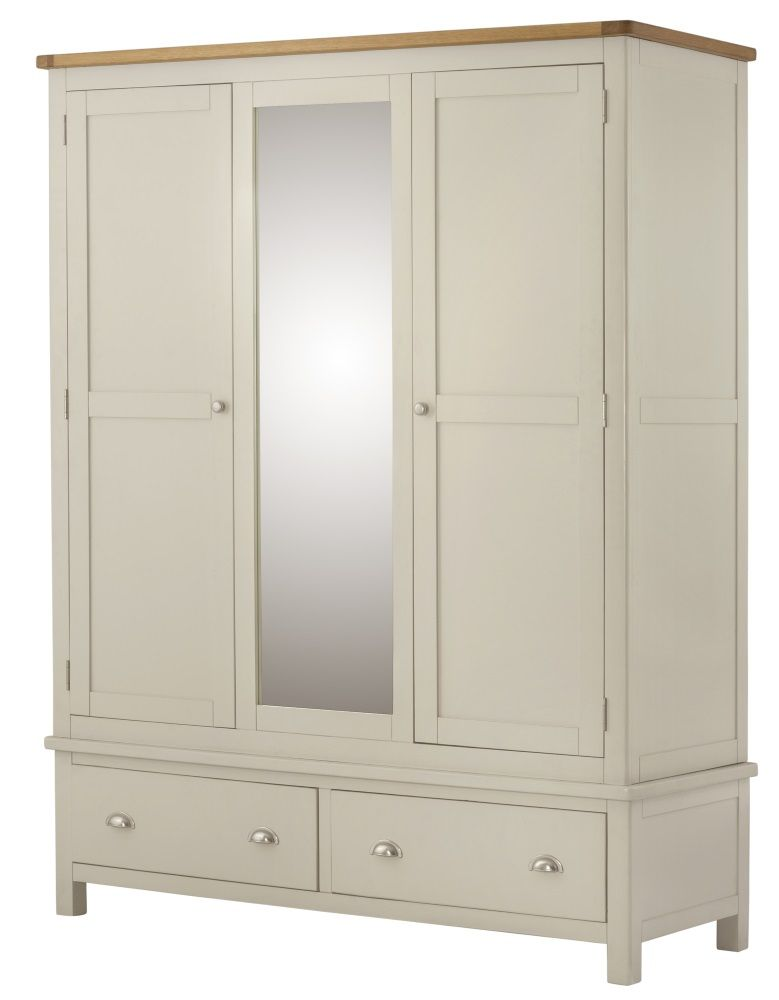 Northport Cream Triple Wardrobe with Drawers