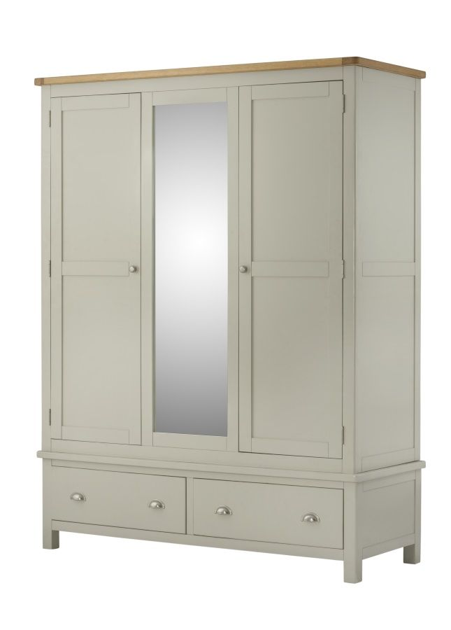 Northport Stone Triple Wardrobe with Drawers
