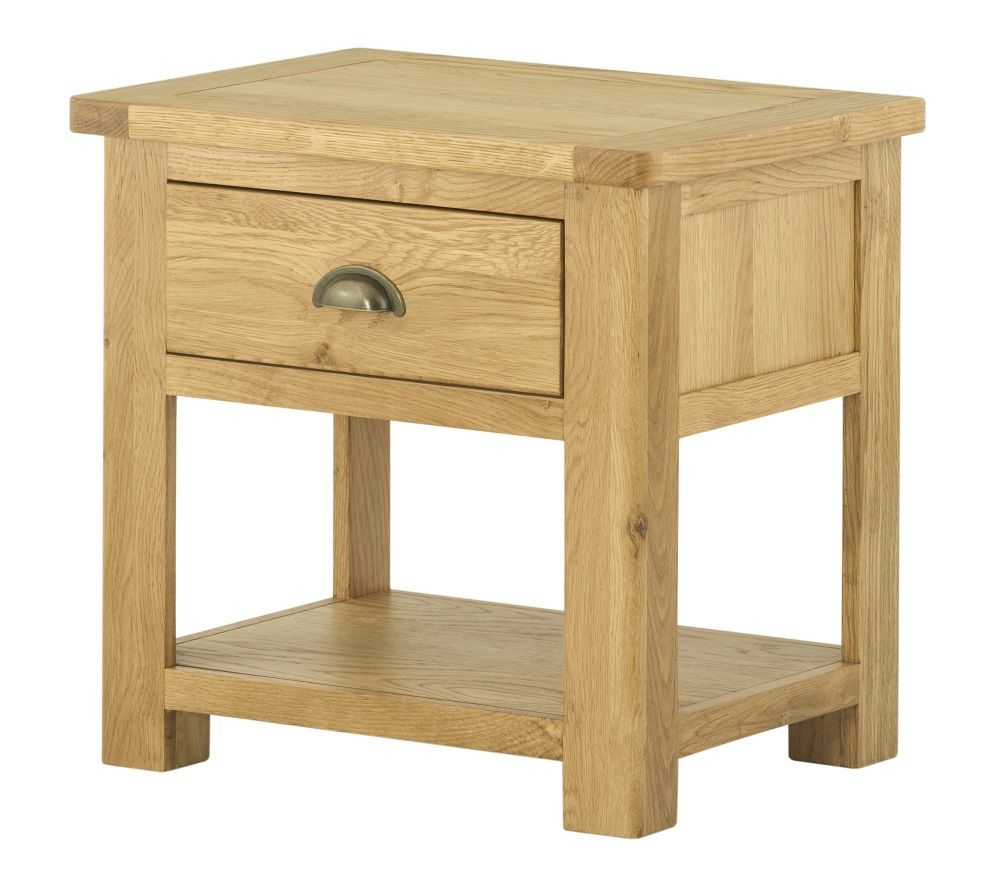 Northport Oak Lamp Table with Drawer