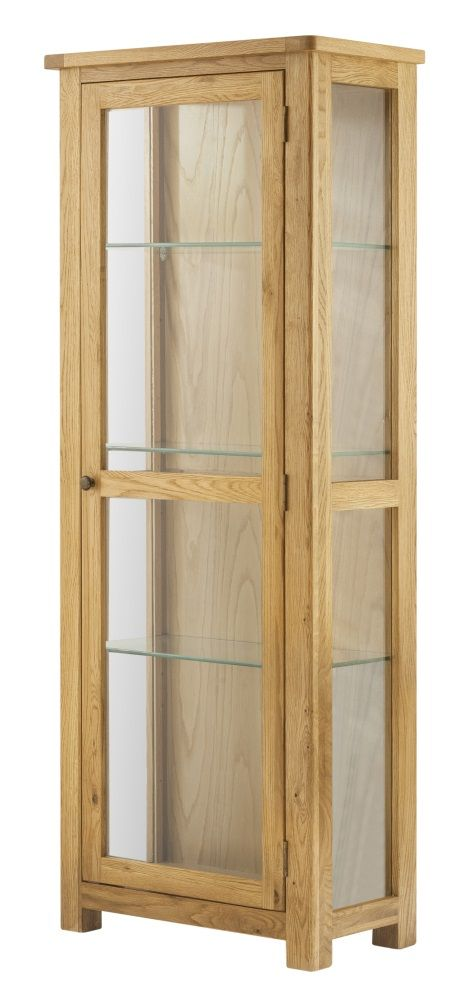 Northport Oak Glazed Display Unit