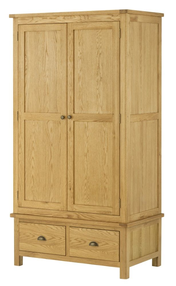 Northport Oak Double Wardrobe with Drawers